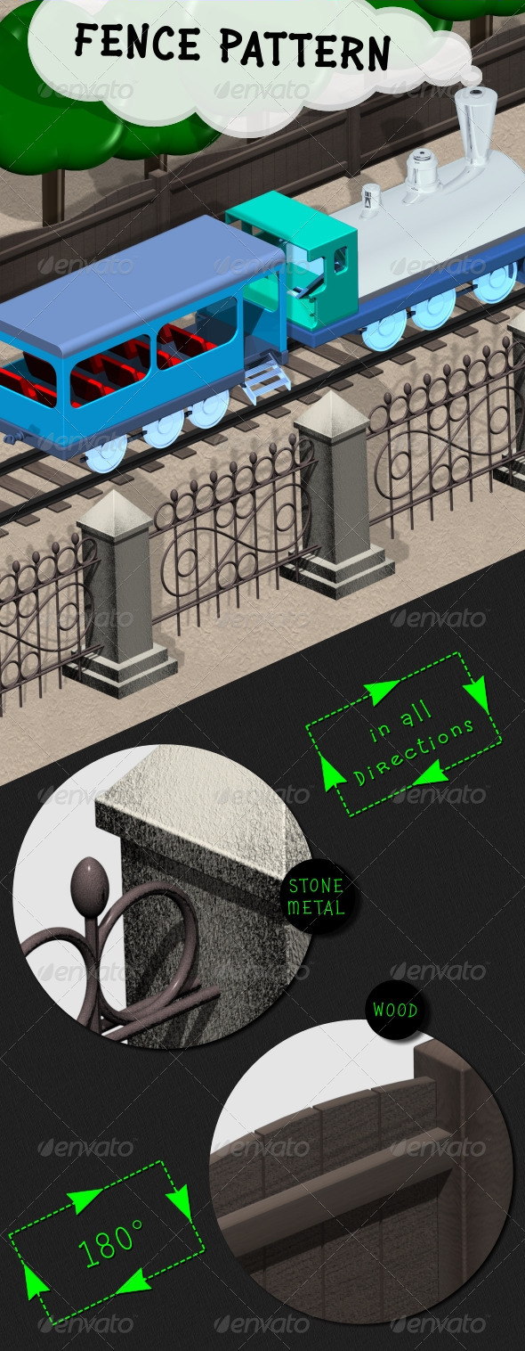 Fence Pattern - Objects 3D Renders