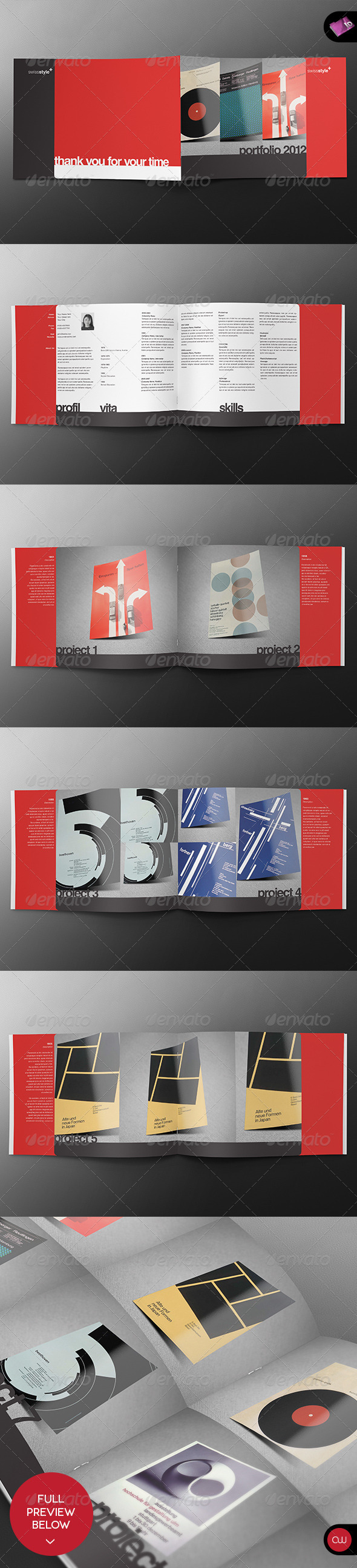 Swiss Brochure Template - Vol.1 - Portfolio Brochures