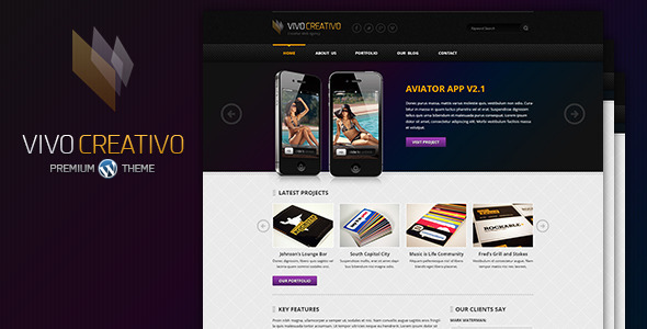 VivoCreativo - Responsive Wordpress Theme