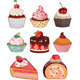 Cake Set Isolated - GraphicRiver Item for Sale