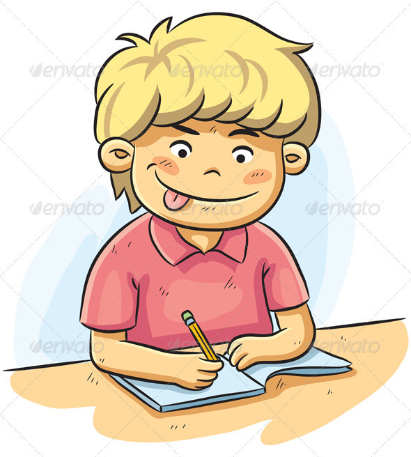 Boy Studying - People Characters