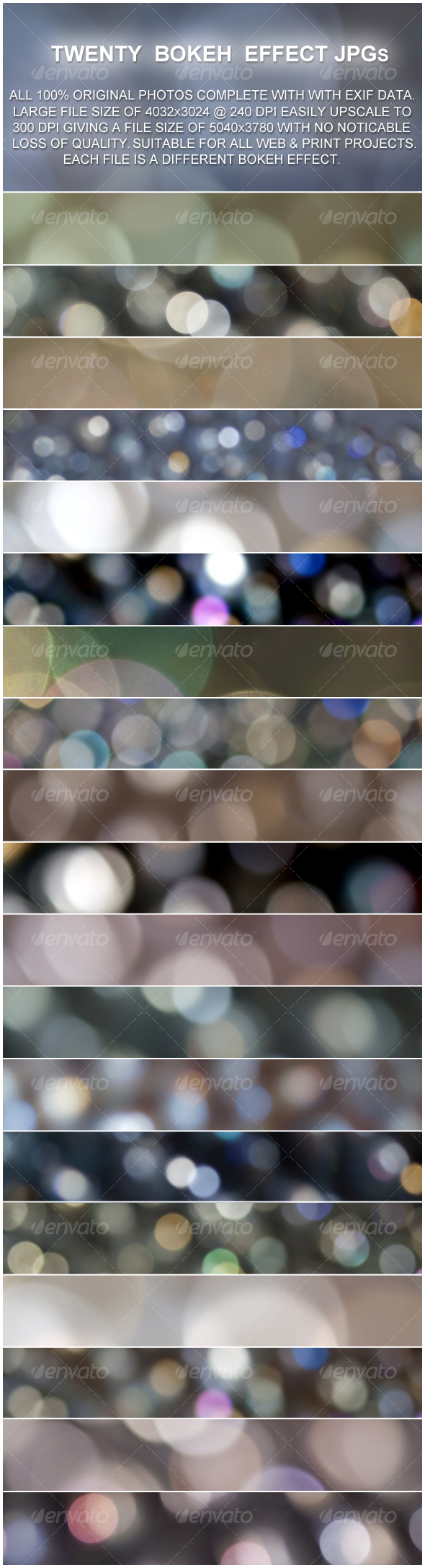 GraphicRiver 20 Bokeh Effect Backgrounds 96064
