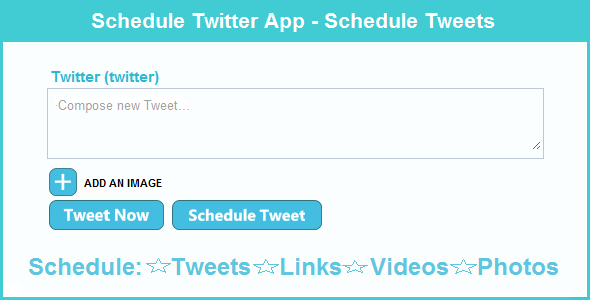 Horaire Twitter App - Planning Tweets - WorldWideScripts.net objet en vente