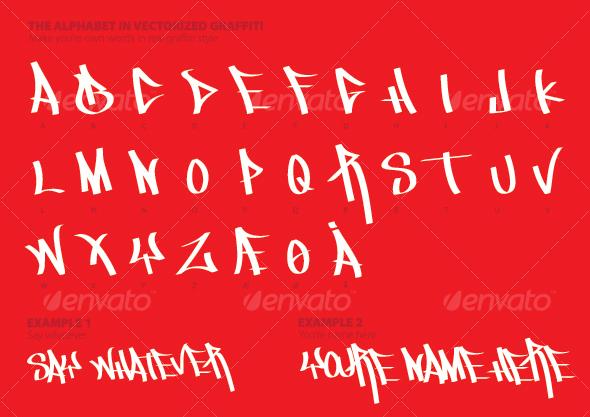 GraphicRiver The Alphabet in Graffiti Style 96090