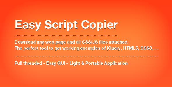 CodeCanyon Easy Script Copier Extract HTML CSS and JS 2652951