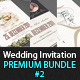 Wedding Invitation Bundle - Pack 2 - GraphicRiver Item for Sale