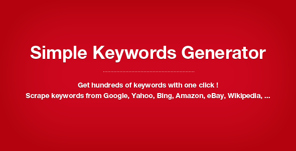 CodeCanyon Simple Keywords Generator 2654583