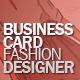Business Card fashion designer - GraphicRiver Item for Sale
