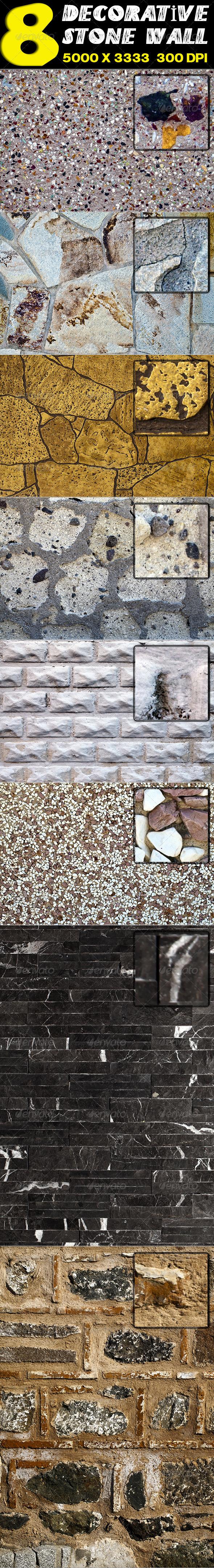 GraphicRiver 8 Decorative Stone Wall 2655200