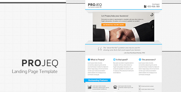 Projeq - Landing Page Template