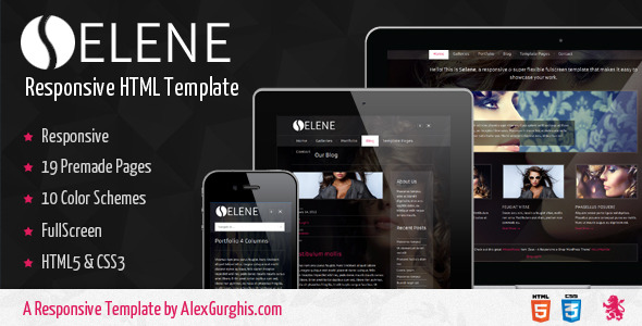 Selene - Fullscreen Premium Template