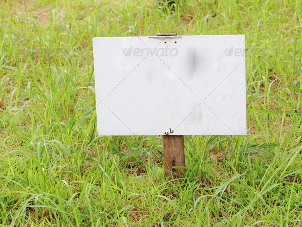 Empty wood sign - Stock Photo - Images