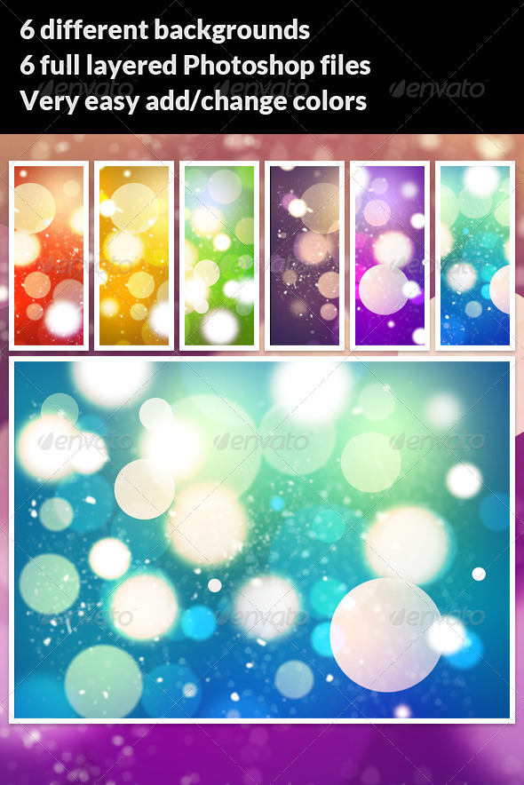 GraphicRiver 6 High Res Bokeh Backgrounds 2656201