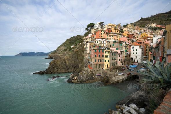 Riomaggiore, Cinque Terre, Italy - Stock Photo - Images