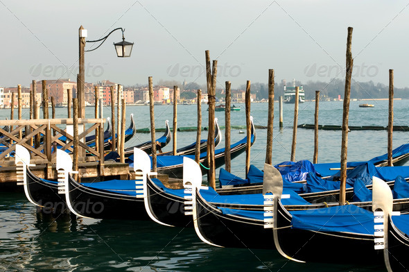Grand Canal Scene, Venice, Italy - Stock Photo - Images