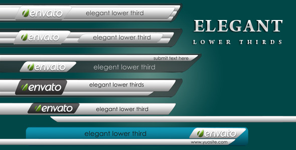 elegant lower thirds