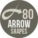 80 Arrow Photoshop Shapes - GraphicRiver Item for Sale