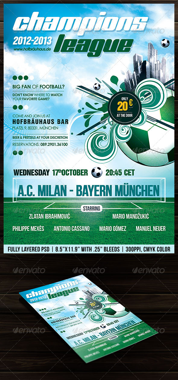 GraphicRiver Football Soccer Poster Flyer 2297424