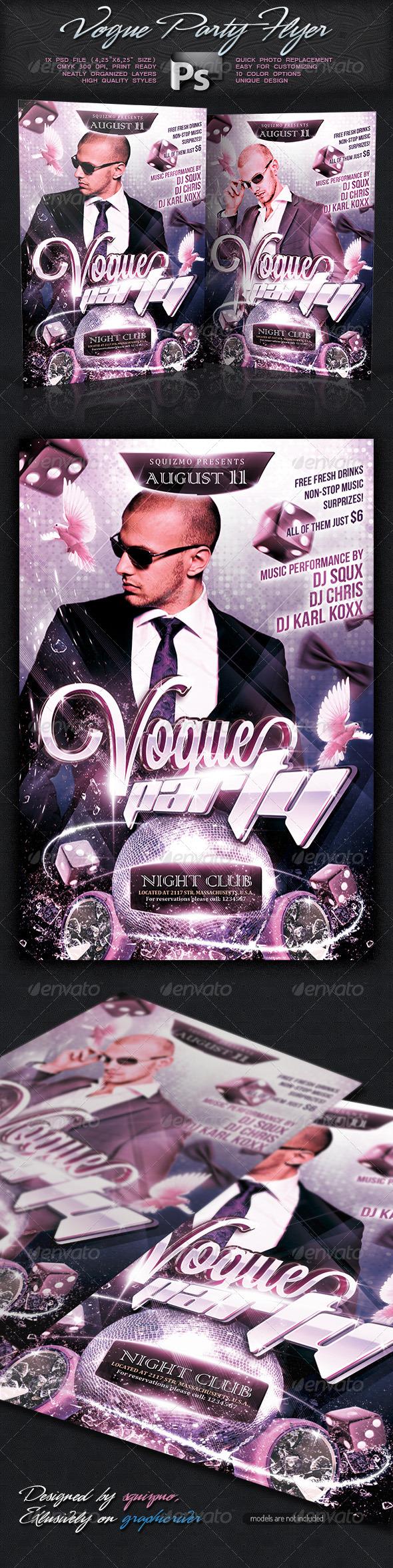 Vogue Show / Party Flyer - Clubs & Parties Events