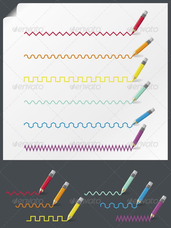 Color Pencils - Decorative Symbols Decorative