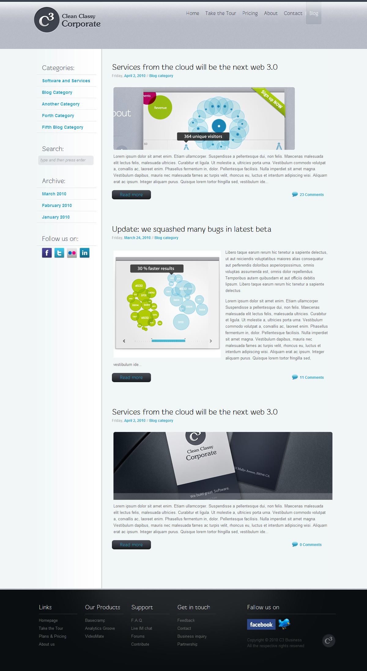C3 - Clean Classy Corporate HTML
