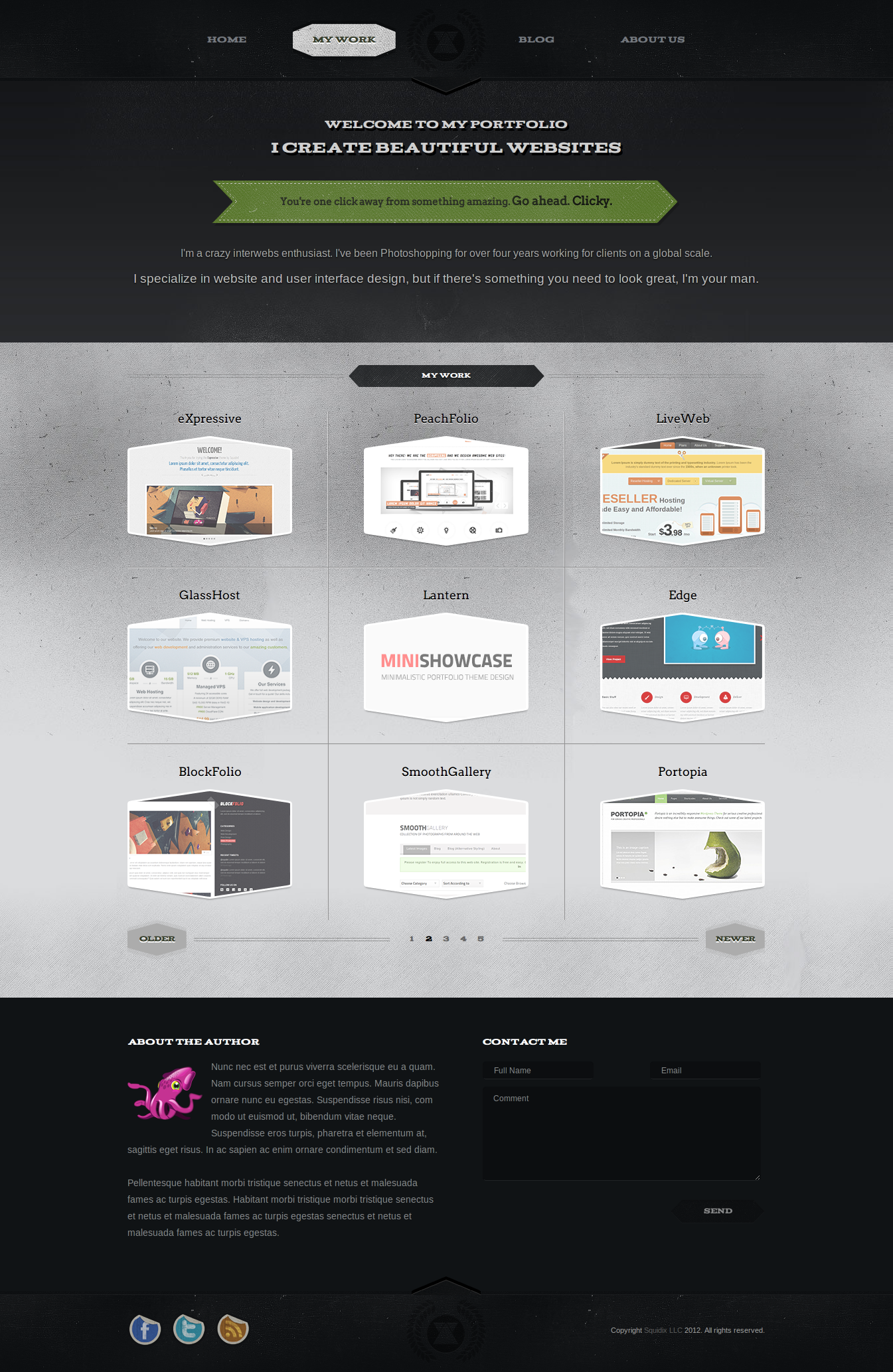 Vintage Portfolio - Responsive HTML5/CSS3 Template