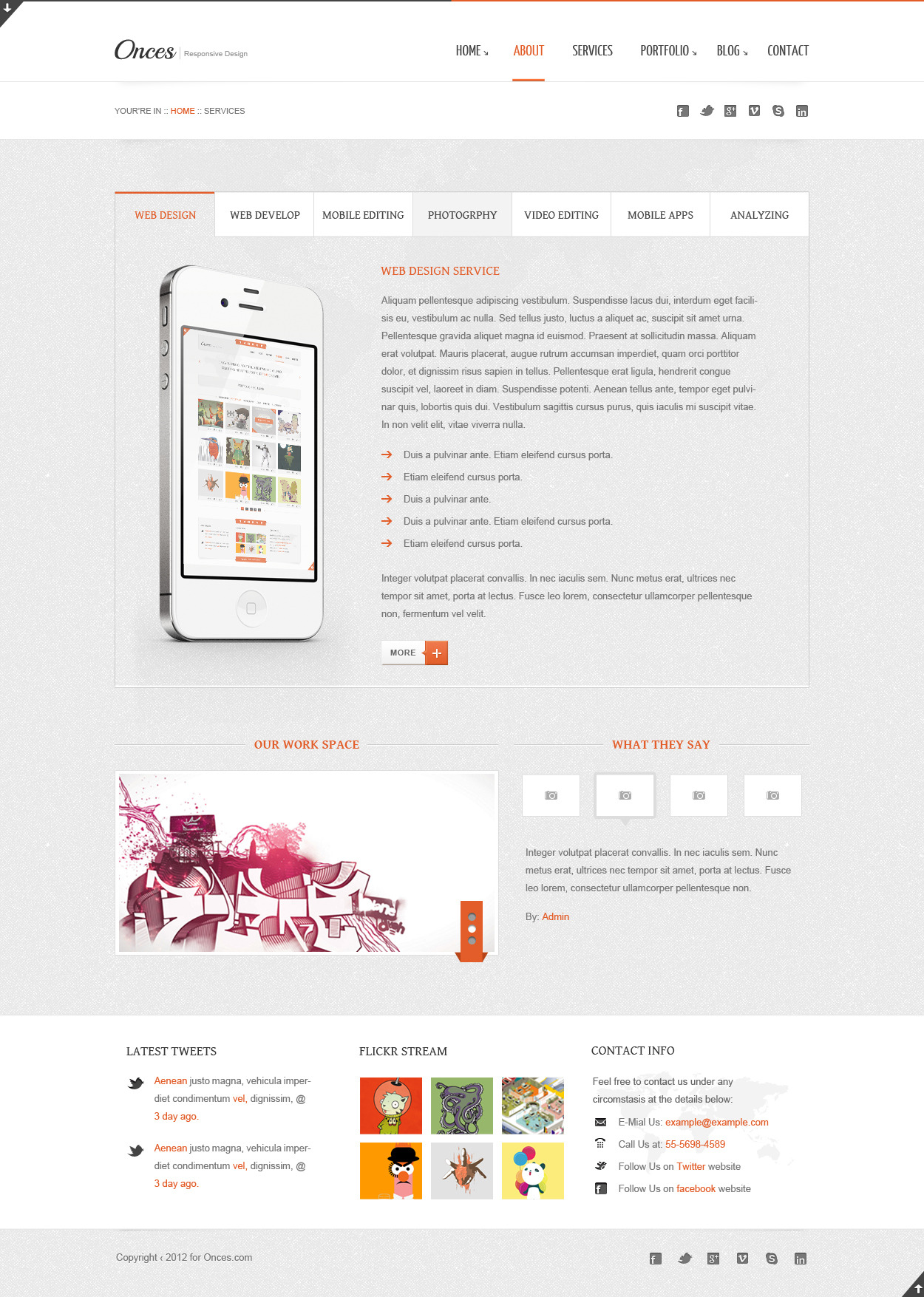 Onces: Modern and Clean PSD