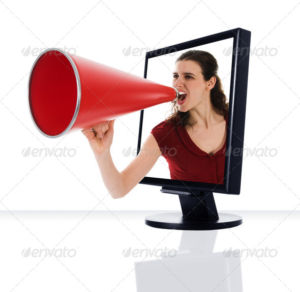 Stock Photo - PhotoDune Monitor Megaphone 295314
