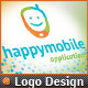 App Development Phone Happy Mobile Logo Design  - GraphicRiver Item for Sale