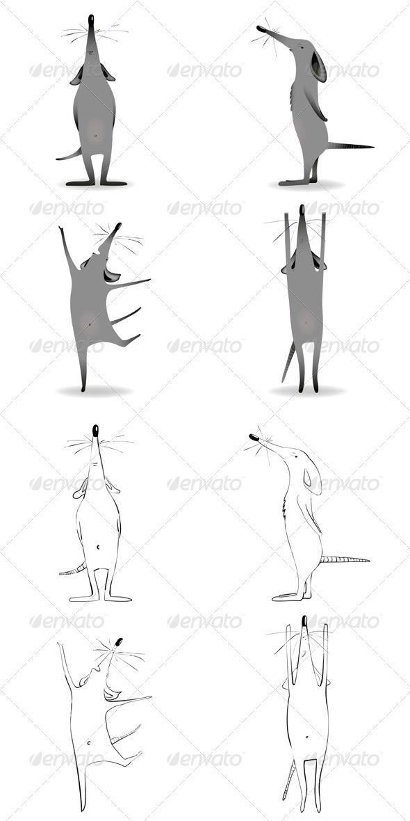 Cartoon Mouse Character Mascot  - Animals Characters