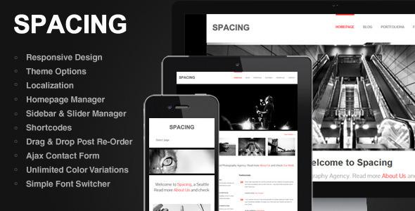 Spacing - A New Responsive, Minimal & Bold WordPress Theme