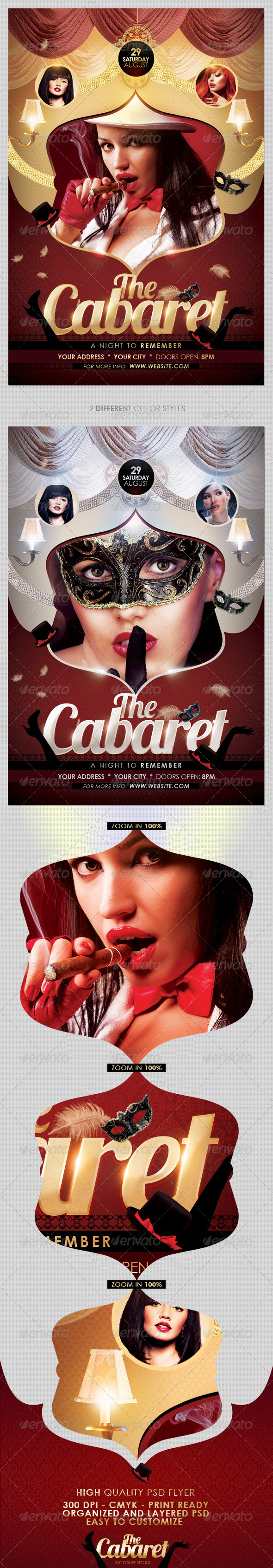The Cabaret Flyer Template - Flyers Print Templates