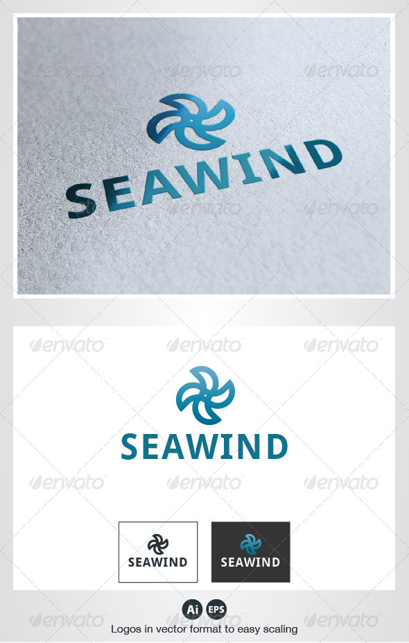 Sea Wind Logo - Symbols Logo Templates