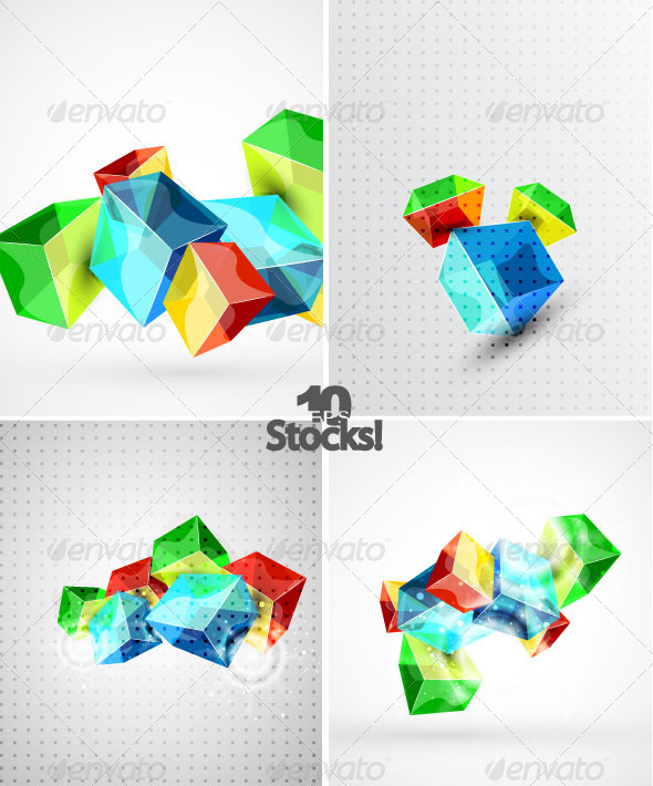 Vector Cubes Backgrounds
