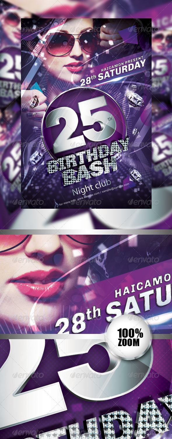 GraphicRiver Birthday Party Flyer Vol 2 2659088