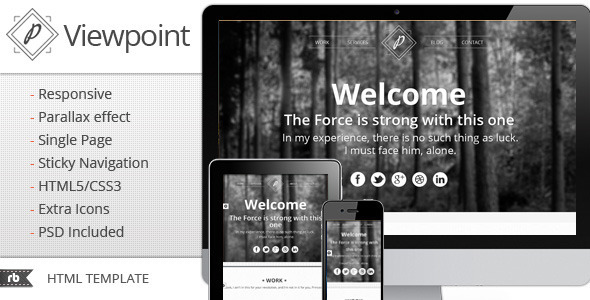 ThemeForest Viewpoint Responsive portfolio with parallax 2660321