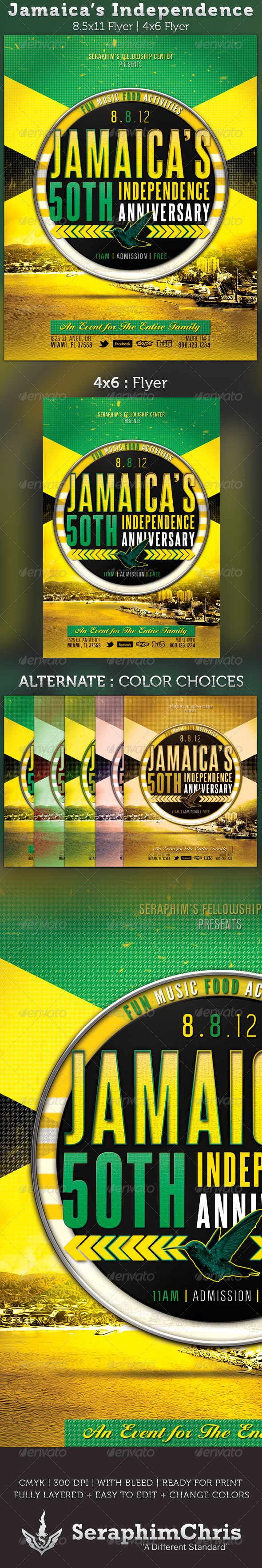 GraphicRiver Jamaica s Independence Flyer Template 2660483
