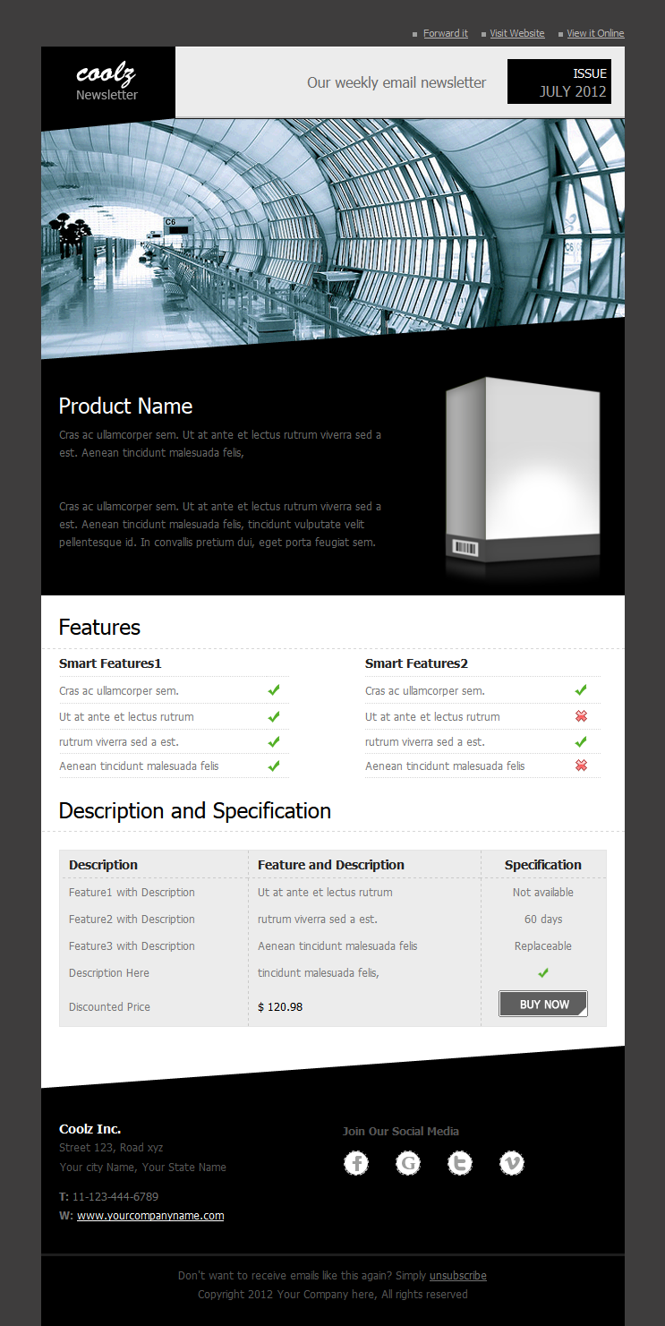 Coolz Newsletter Template