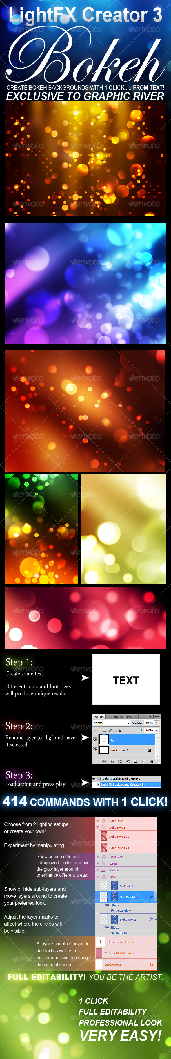 Bokeh Background Photoshop Background Creator 3 Bokeh