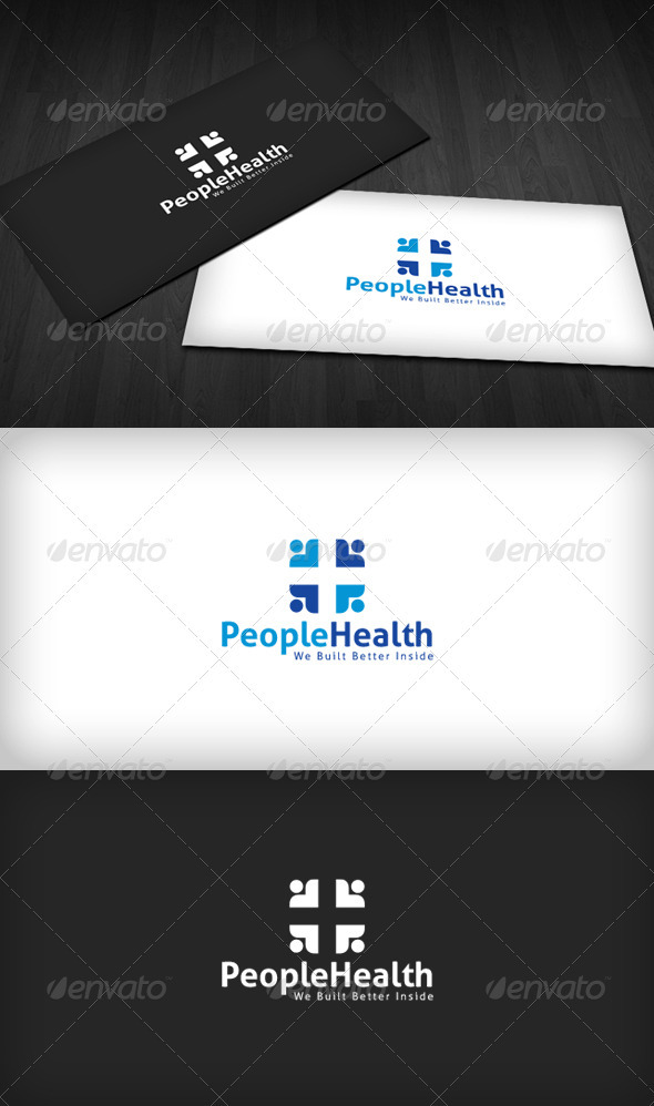 People Health Logo - Humans Logo Templates