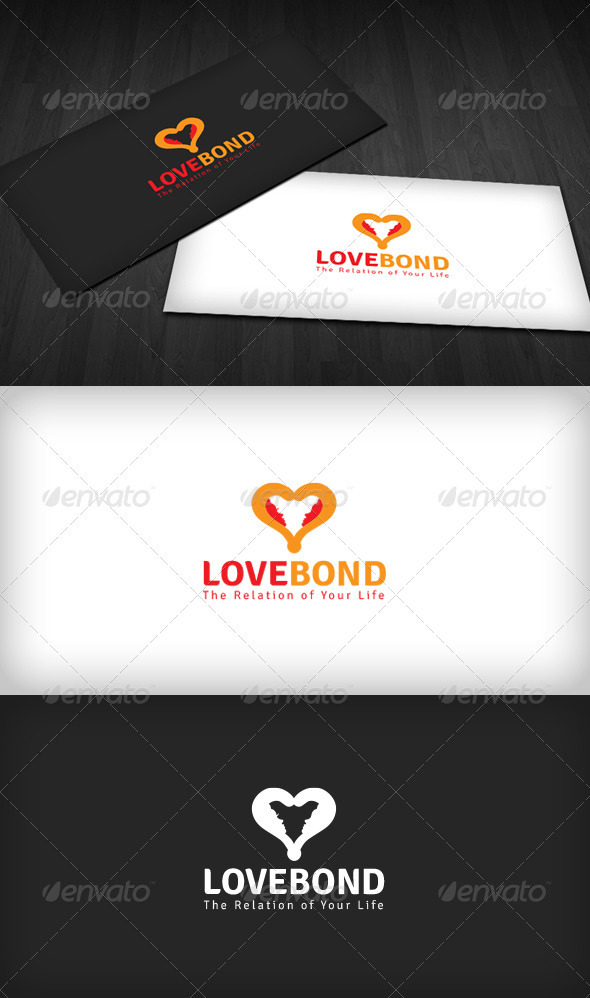 Love Bond Logo - Humans Logo Templates