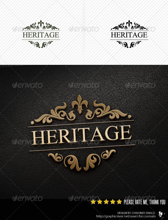 Heritage Logo Template - Abstract Logo Templates