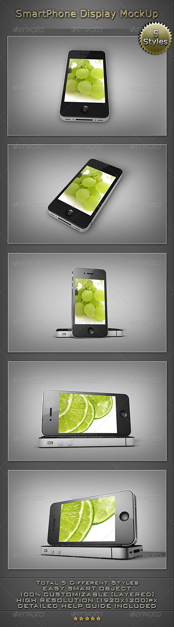 SmartPhone Display MockUP - Mobile Displays