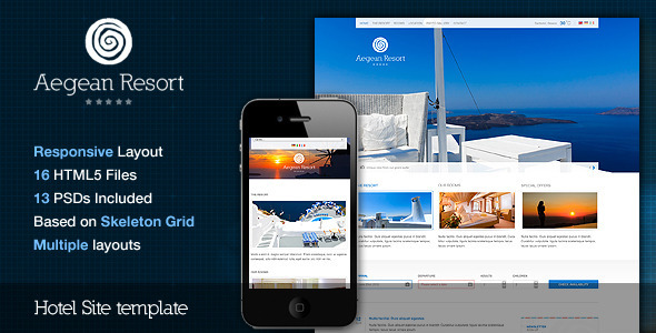 ThemeForest Aegean Resort Responsive Hotel Template 2661116