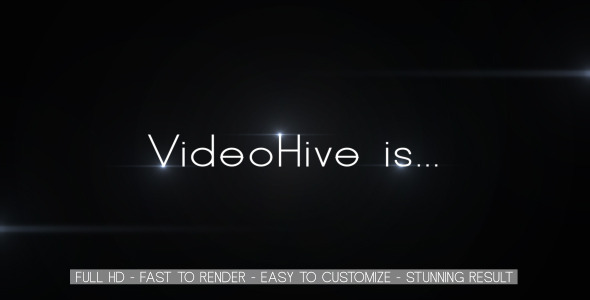 After Effects Project - VideoHive Dark Modern Style Opener 2661173