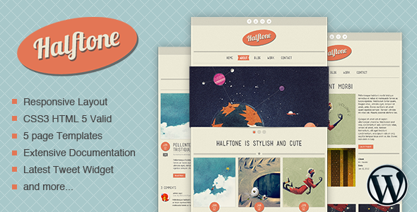 Halftone - WordPress Theme - Home page