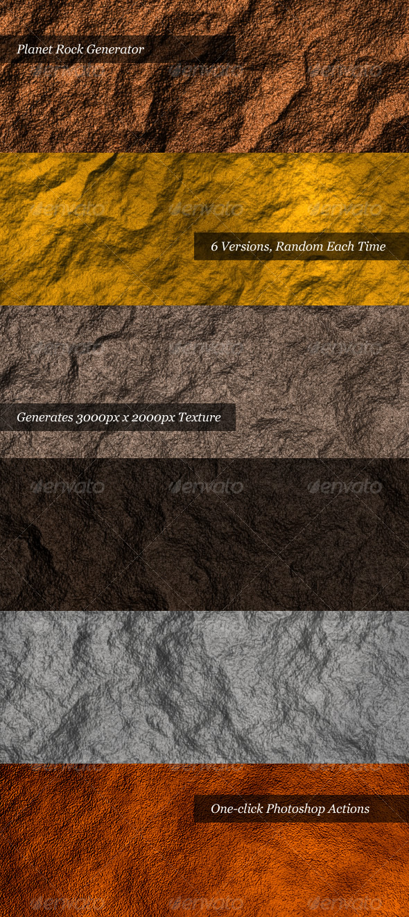 Planet Rock Generator - Photo Effects Actions