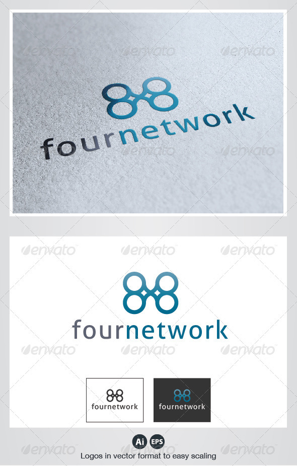 Four Network Logo - Symbols Logo Templates