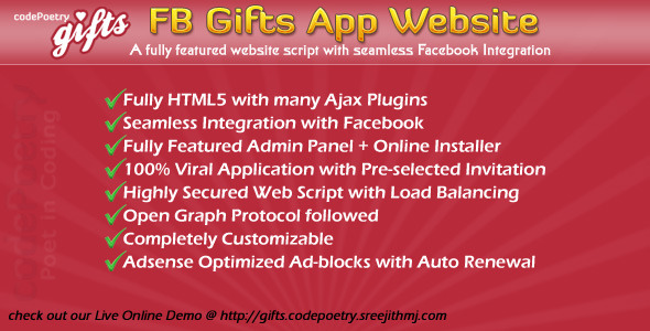CodeCanyon Gifts App Website with FB Integration HTML5 2661816