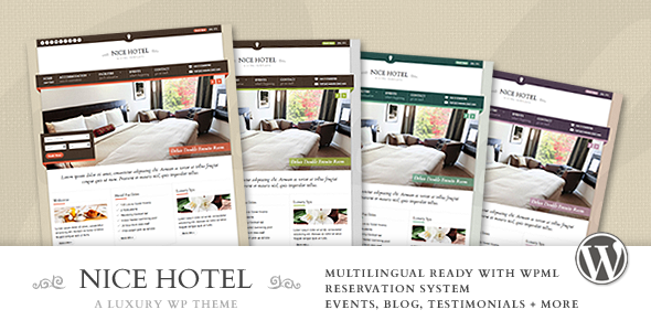 Nice Hotel - Tema para Hoteles / Hostales para WordPress